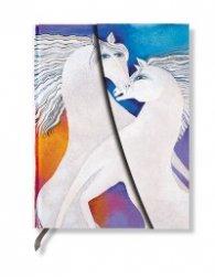 Бележник Paperblanks Mystical Horses Midi Wrap, Lined/ 5385