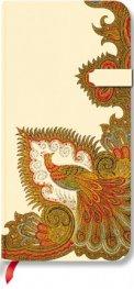 Бележник Paperblanks Floral Cascade Ebony Slim, Lined / 7242