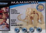 Дървен конструктор 3D пъзел Mammoth A400