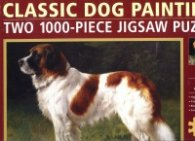 Classic Dog Paintings (two 1000-piece jigsaw puzzle)