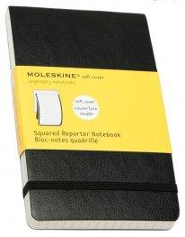 Бележник Moleskine Squared Soft Reporter Notebook Pocket [2974]