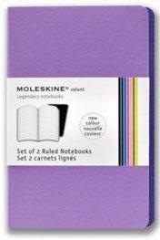 Бележник Moleskine Volant Notebook Ruled, Purple Pocket: Set of 2 [3346]