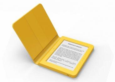 """BOOKEEN Cybook SAGA Yellow 15,2см/6"""" електронна книга, четец със силиконов калъф"""