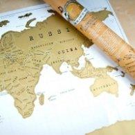 Скреч карта - Свят мини