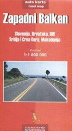 Zapadni Balkan / Slovenja,Hrvatska,BiH Srbija i Crna Gora,Makedonija - auto karta