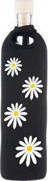 Бутилка FLASKA NEO DESIGN 0.750L: Черна - бели маргаритки