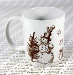 Коледна чаша Снежен човек и елха
