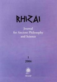 Rhizai: Journal for Ancient Philosophy and Science; 1/2004