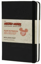 Бележник Moleskine Mickey Notebook Plain Pocket [Hardcover] [7894]