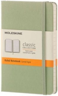 Moleskine Classic Notebook, Pocket, Ruled, Willow Green, Hard Cover [3588]