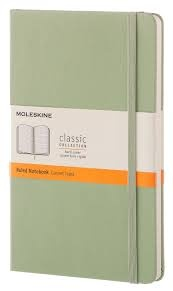 Moleskine Classic Notebook, Large, Ruled, Willow Green, Hard Cover [3625]