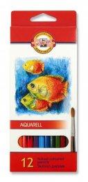 """Комплект акварелни цветни моливи """"Риби"""", 12 цвята 3716012004KS"""