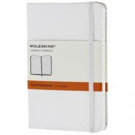 Moleskine White Large Ruled Notebook Hard [7238]